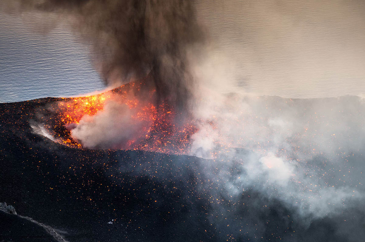 вулкан Стромболи, Италия
