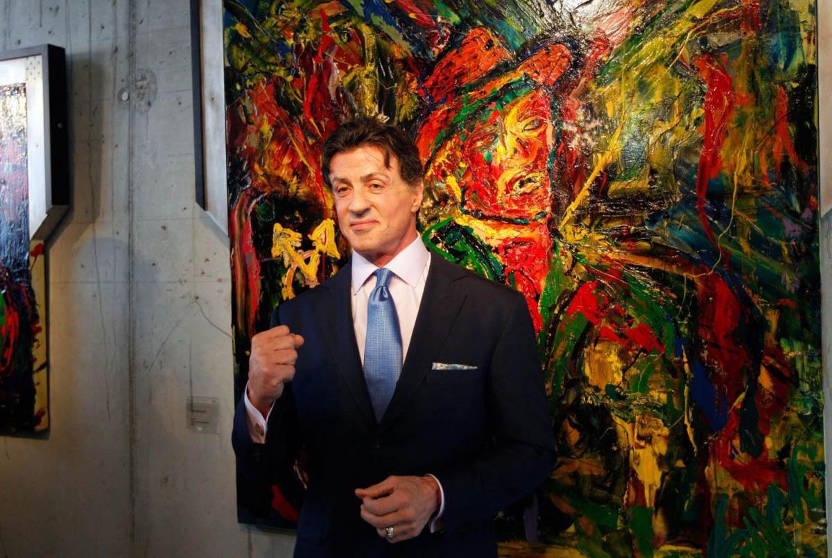 выставка картин Сильвестра Сталлоне