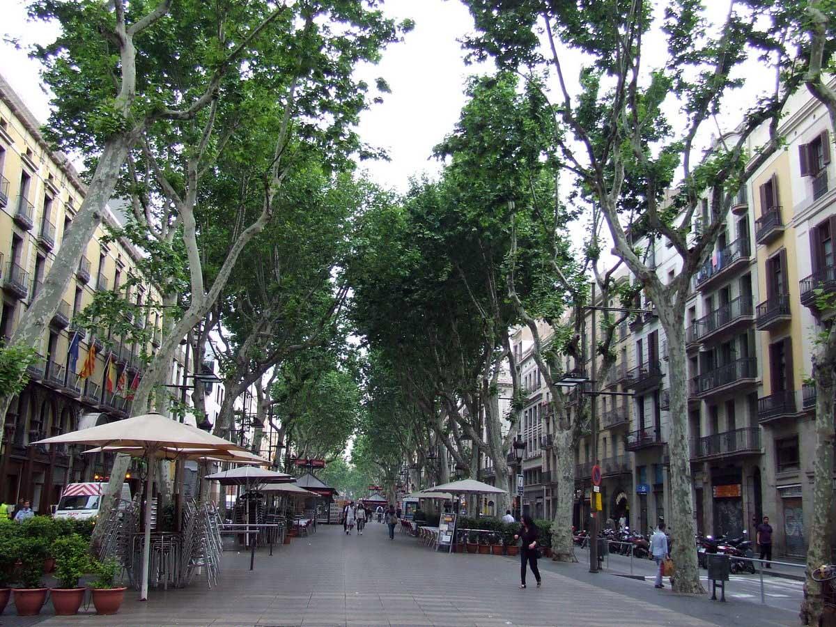 бульвар Ла Рамбла в Барселоне