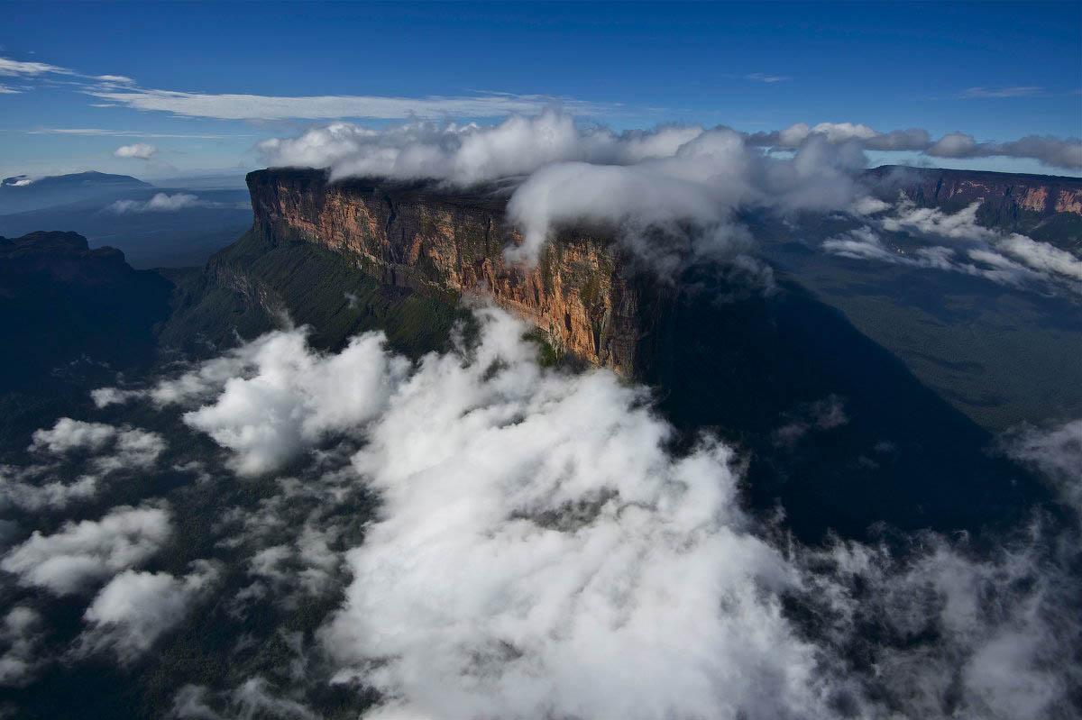 гора Рорайма, вид с высоты