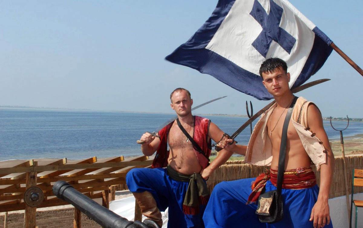 казацкое представление в Кирилловской сечи