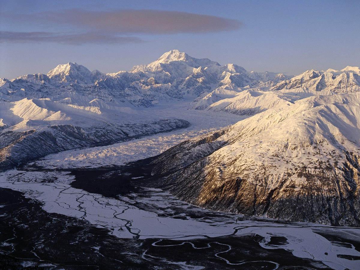 ледник в Нацпарке Денали
