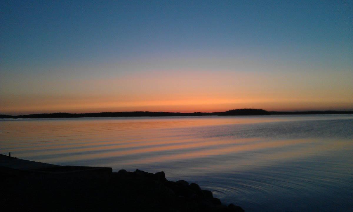 озеро Сайма на закате