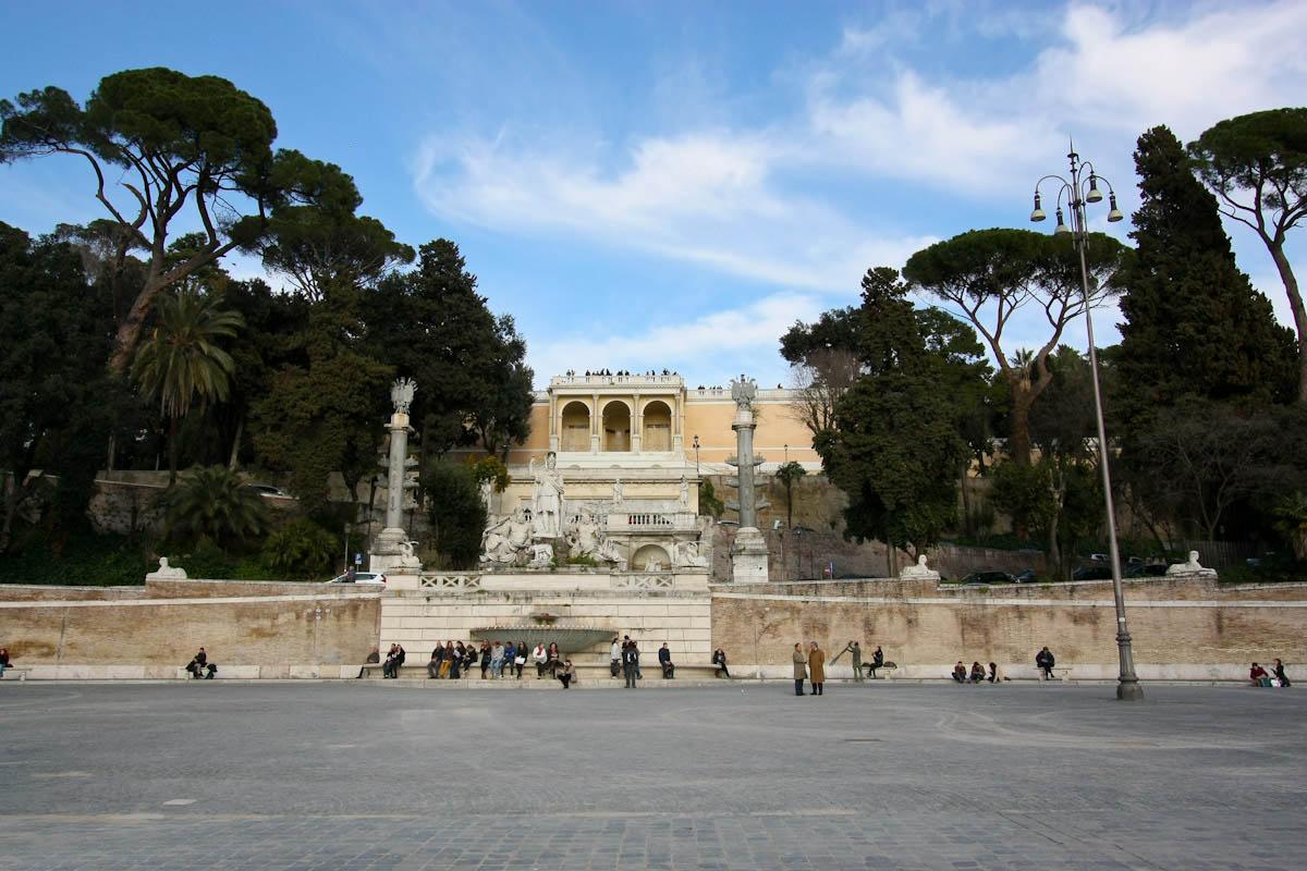 парк Пинчо в Риме