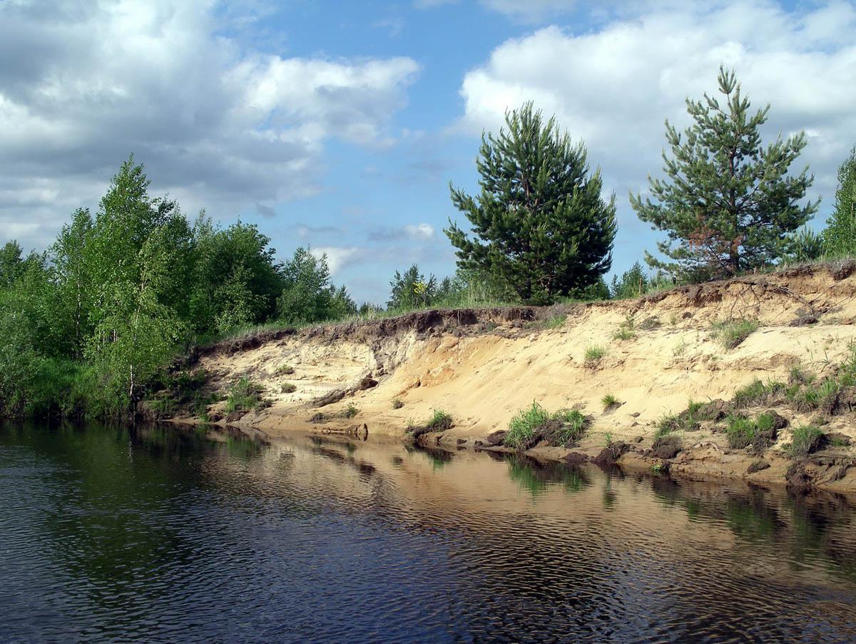 река Керженец в Нижнем Новгороде
