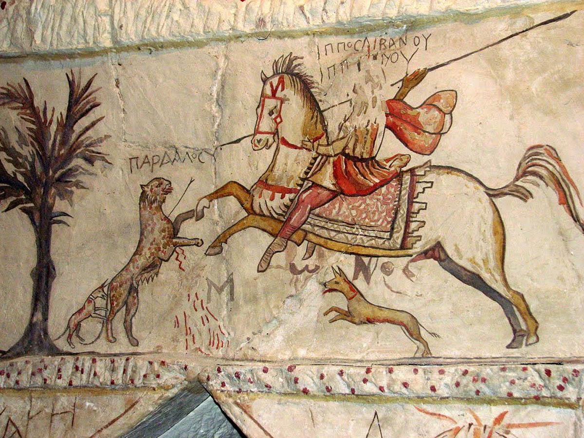 роспись в пещерах для захоронений в Бейт-Гуврине
