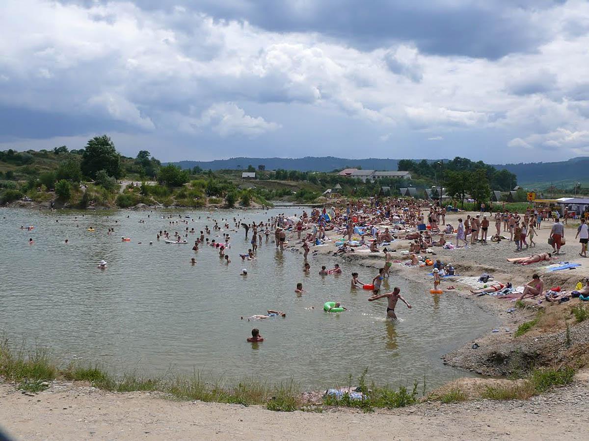 целебные озера Солотвино, Закарпатье