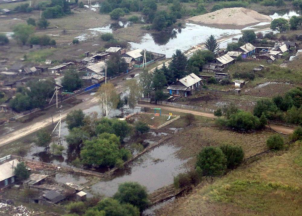 весенний паводок на Дальнем Востоке