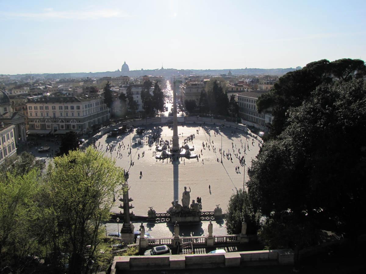вид с холма Пинчо на Рим