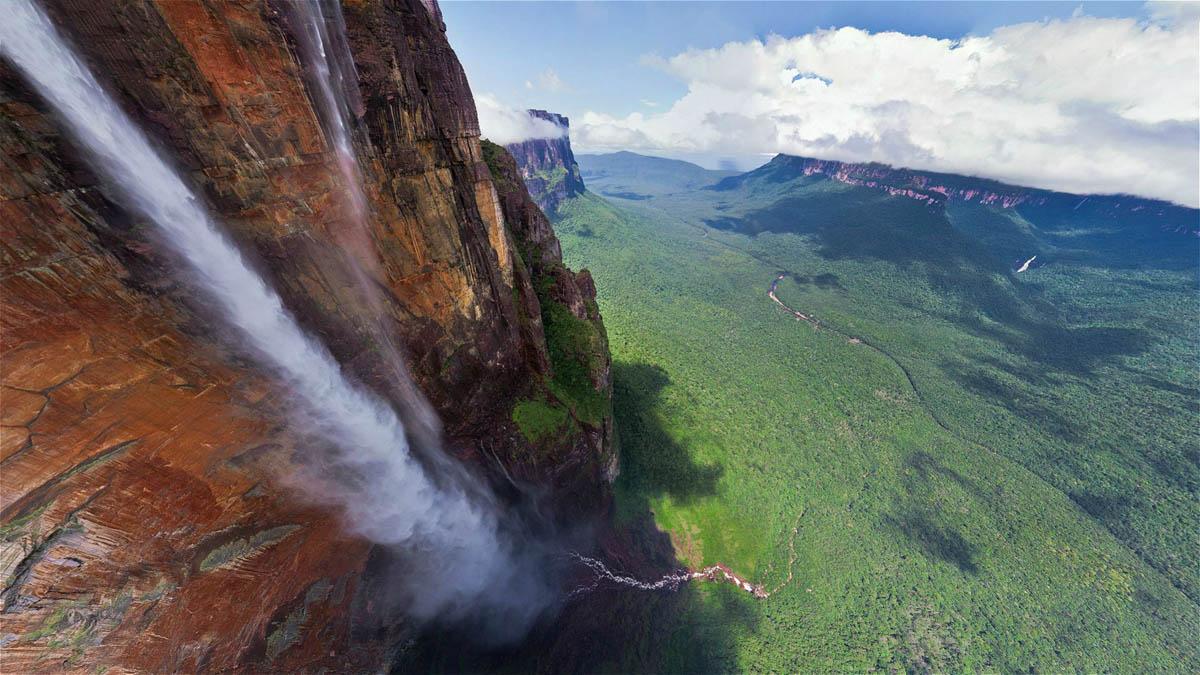 вид с высоты водопада Анхель