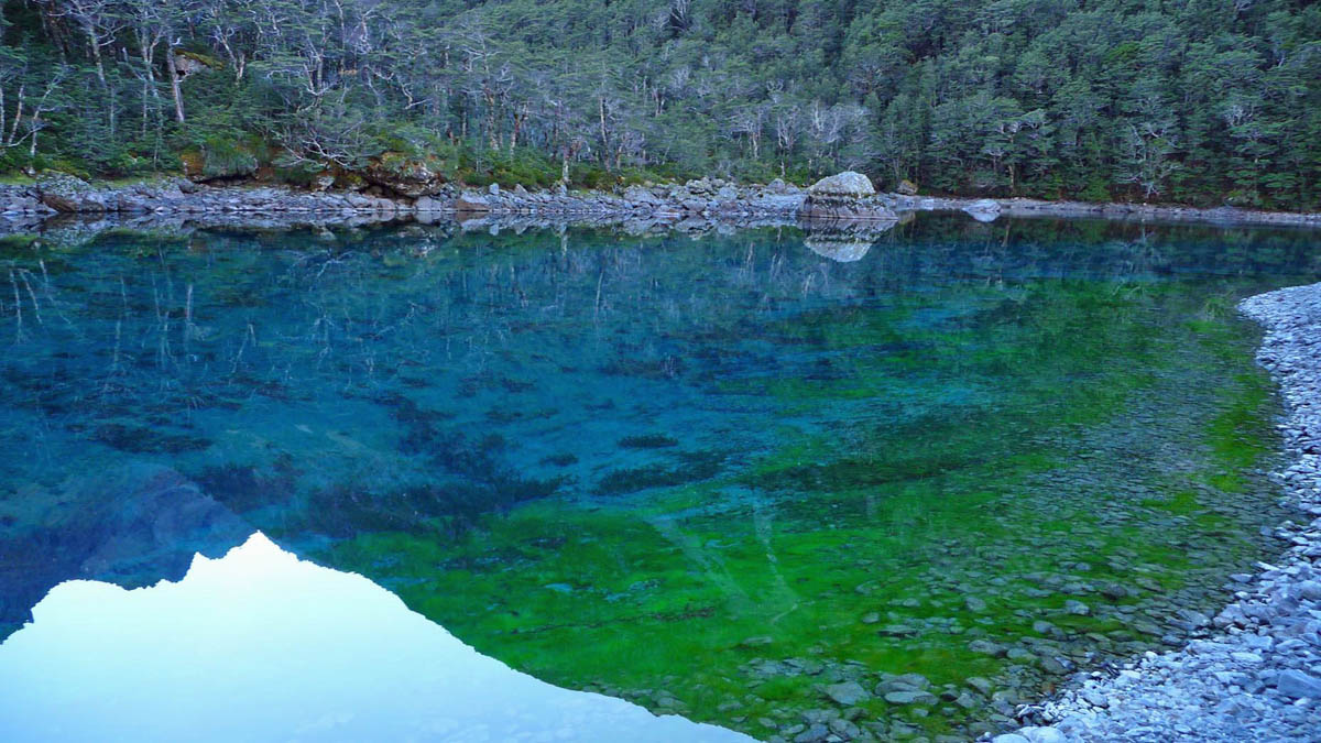 Blue Lake, Sabine Valley, New Zealand
