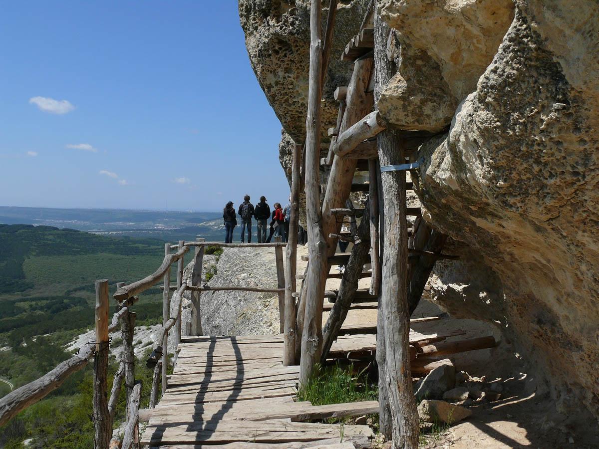 Челтер-Мармара, деревянные лестницы