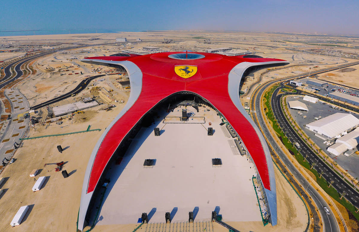 Ferrari park, Yas Island, Abu Dhabi, UAE