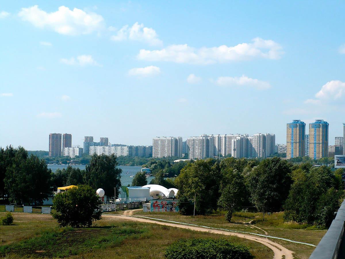 Москворецкий парк в Строгино, Москва, Россия