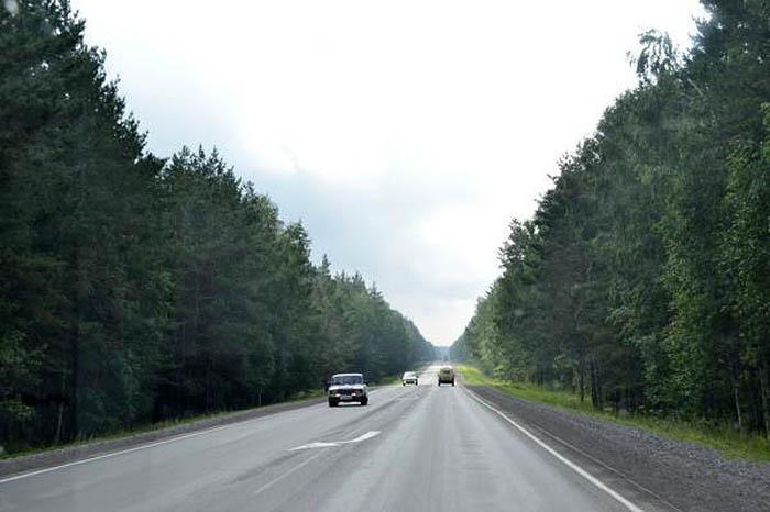 дорога на Искитим с Новосибирска