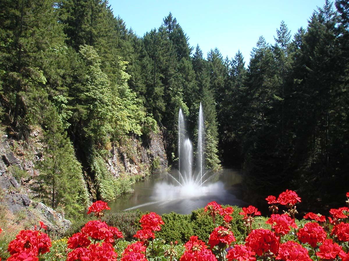 фонтан Росс в саду Бутчартов