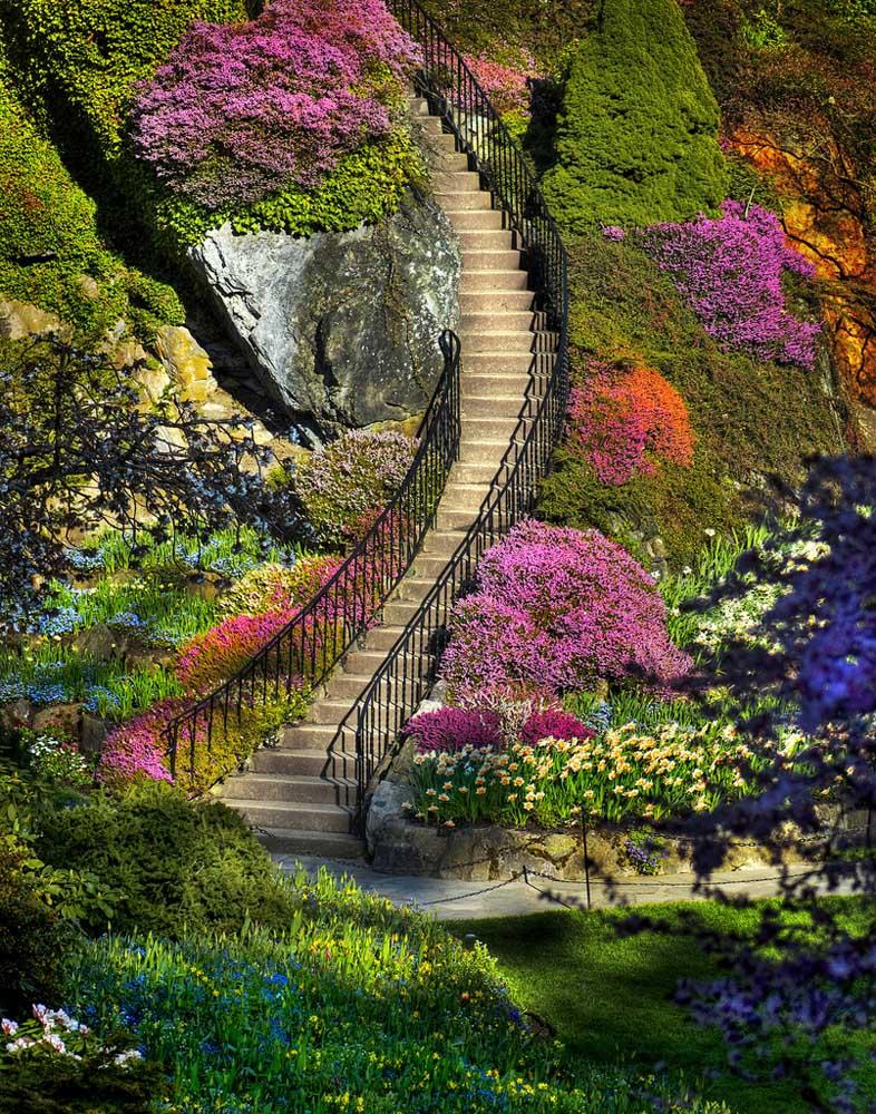 лестница в саду Бутчартов