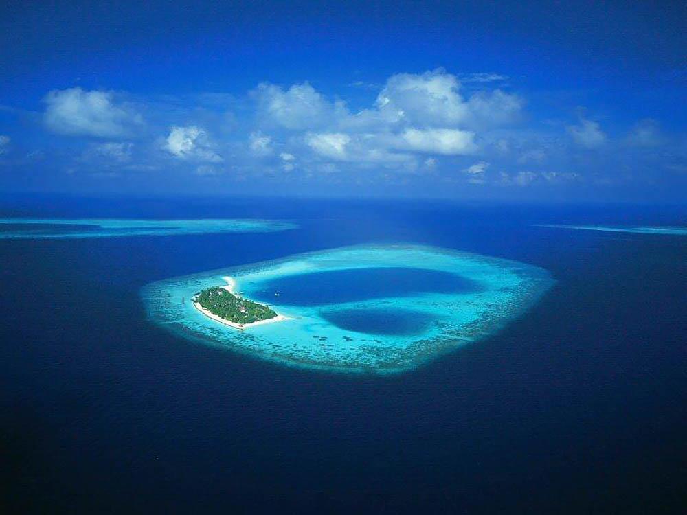 остров Реданг, вид с высоты