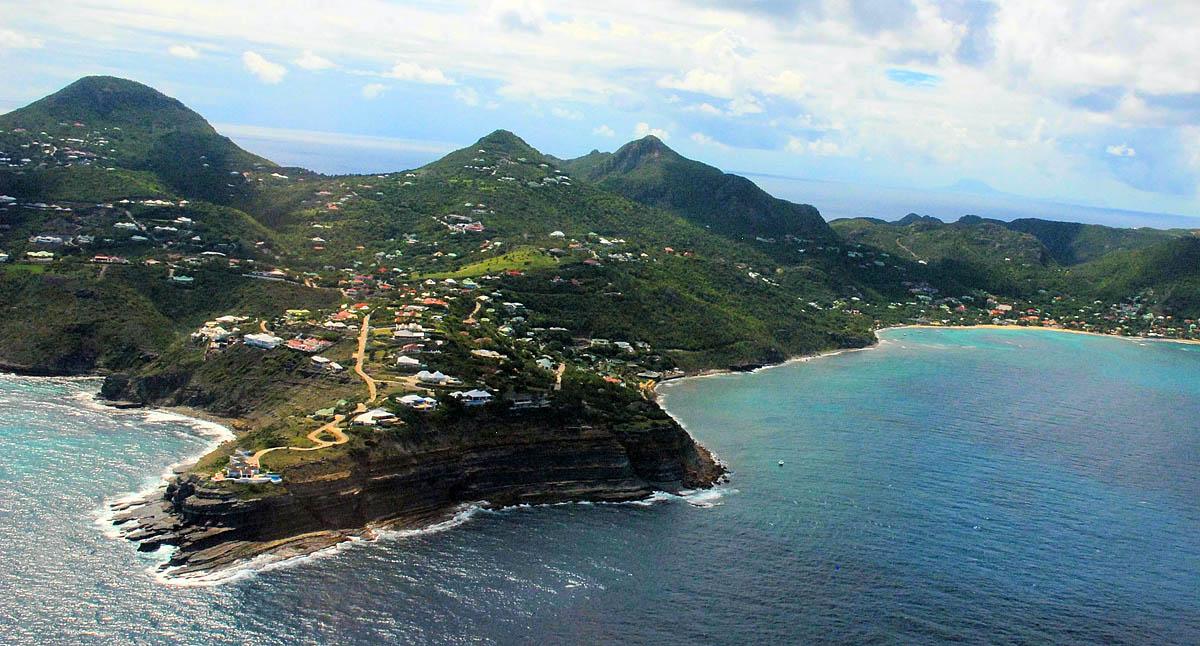 остров Сант-Бартелеми, Карибы
