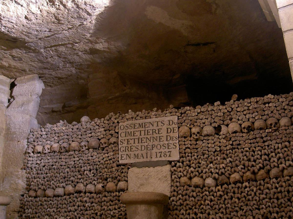 подземные катакомбы Парижа