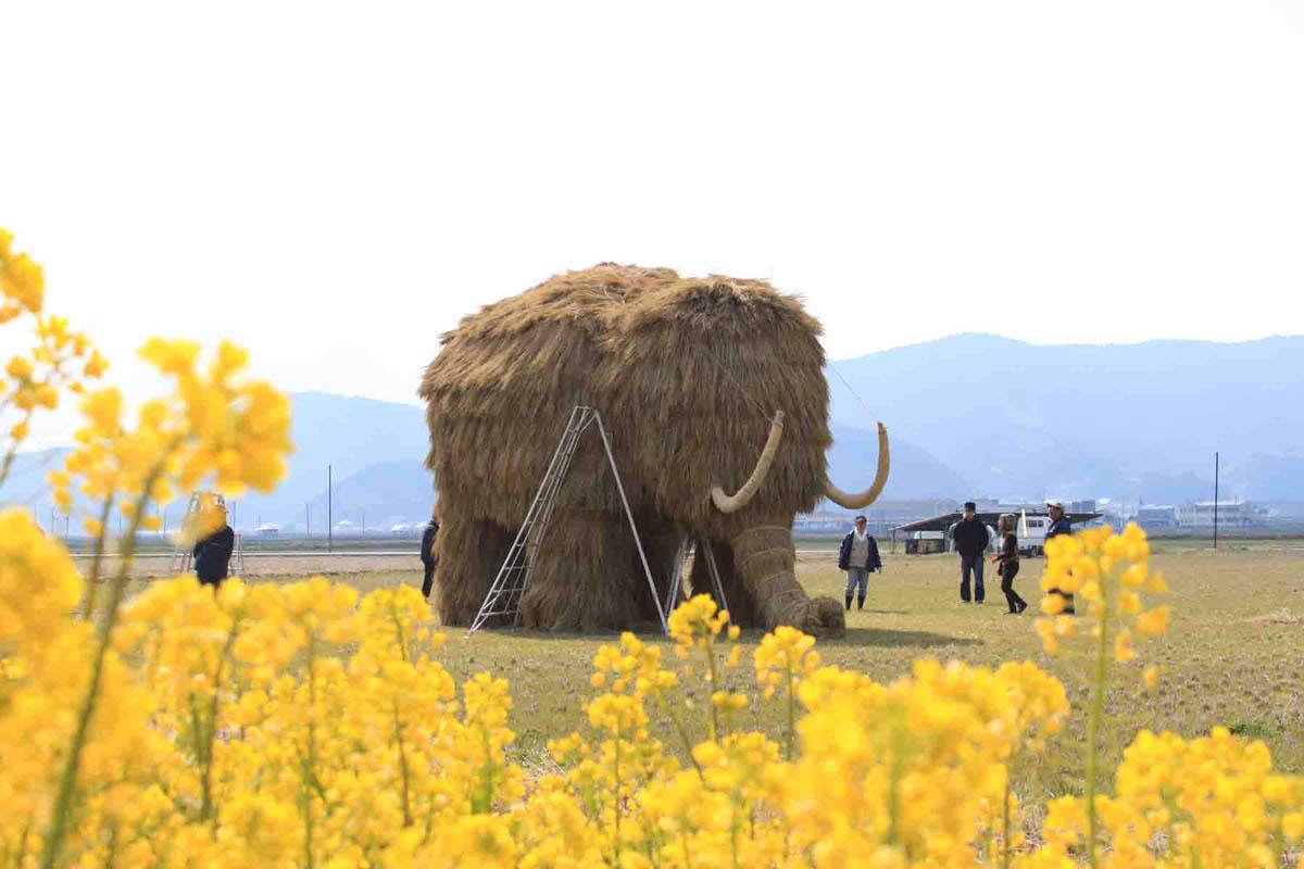 соломенные скульптуры на фестивале в Японии