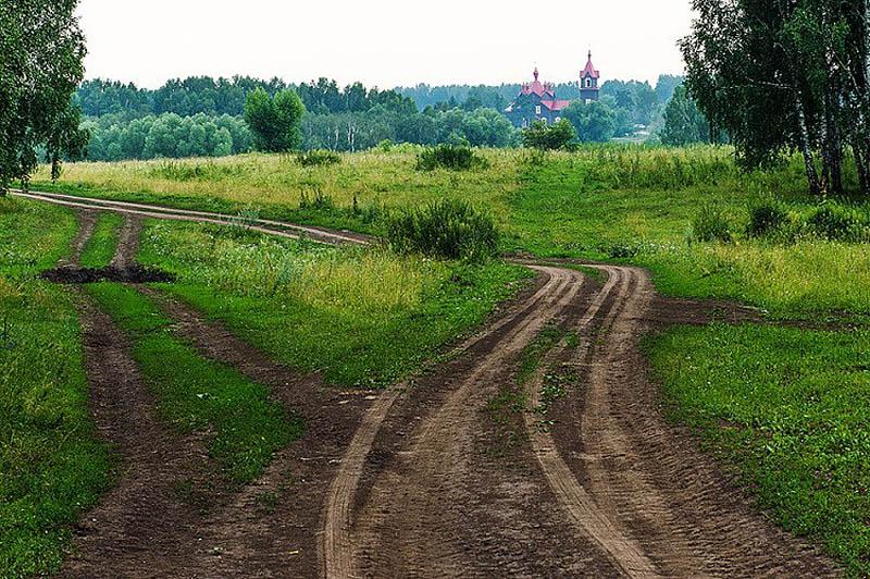 вид на церковь Томского, Турнаево