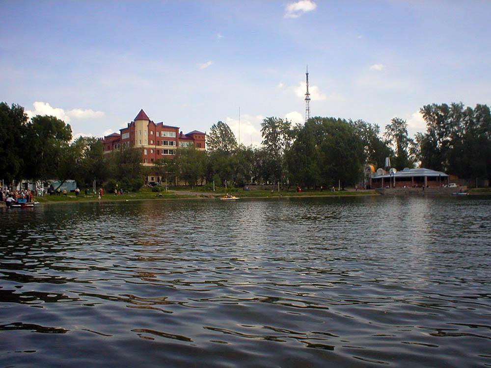 Белое озеро в Томске, Россия