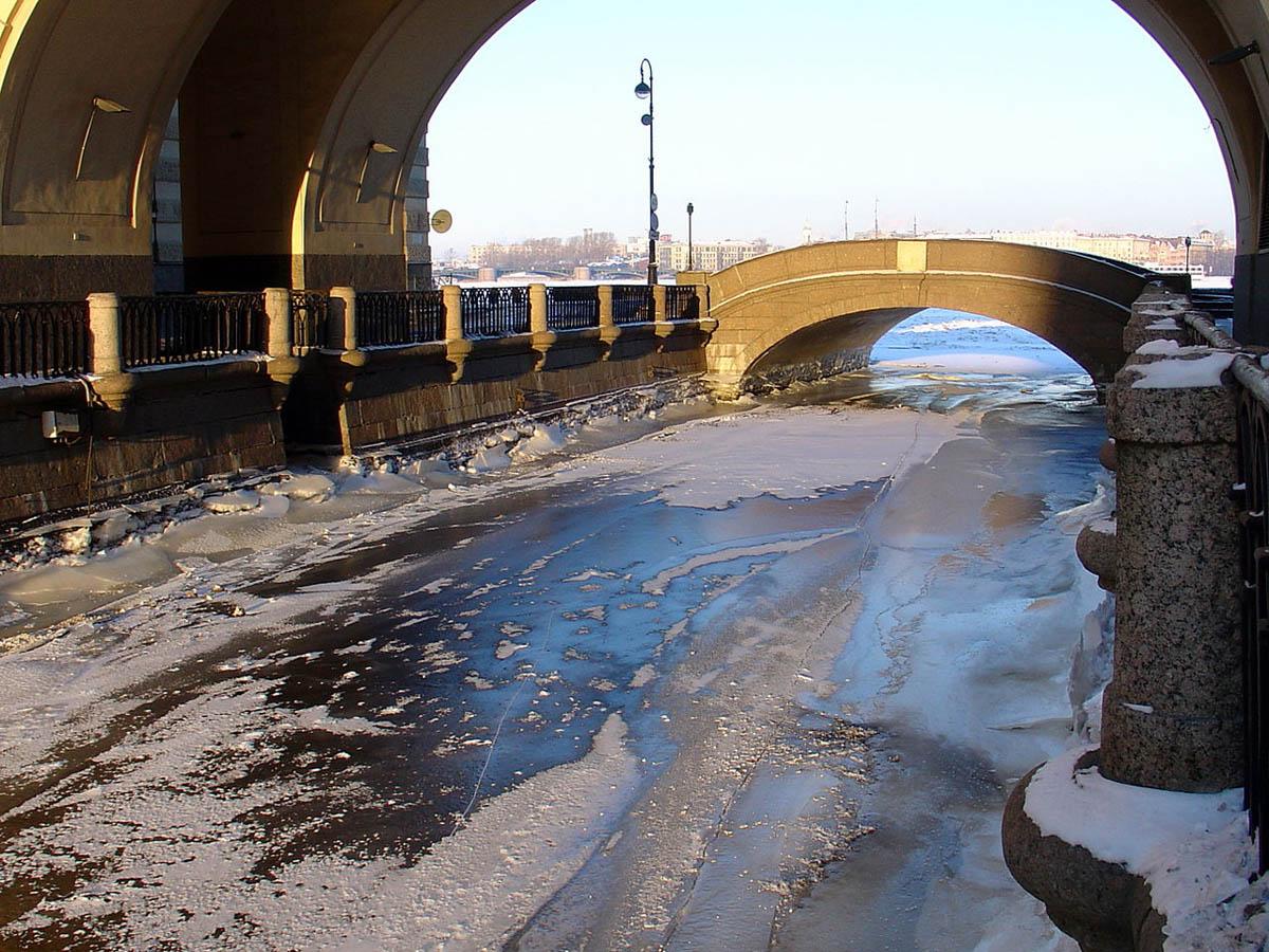 Эрмитажный мост и Зимняя канавка