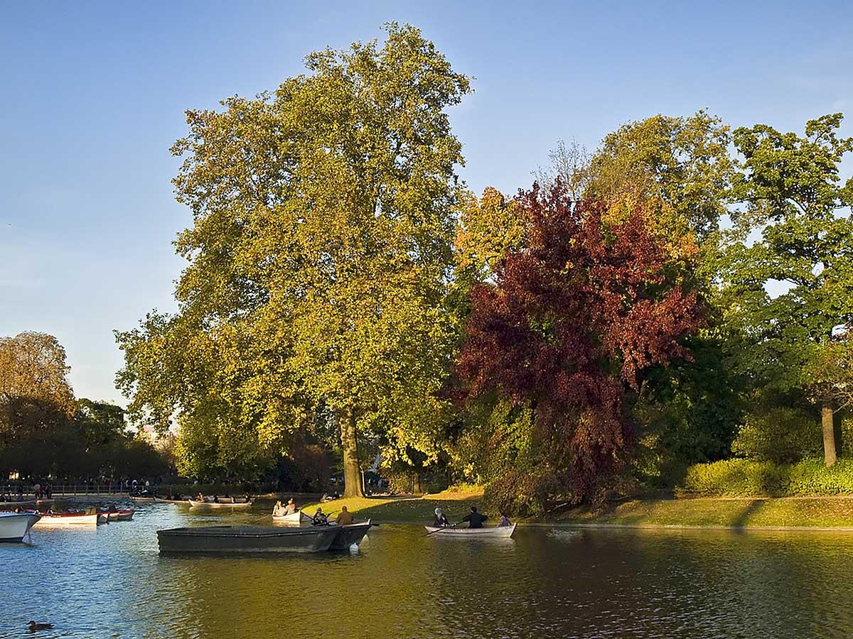 Lac Daumesnil dans le Bois de Vincennes