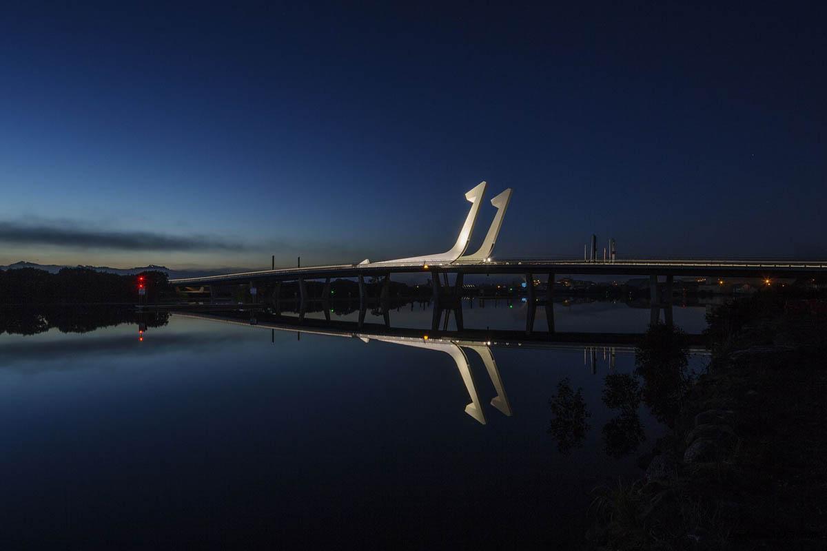 Pohe bridge in New Zealand