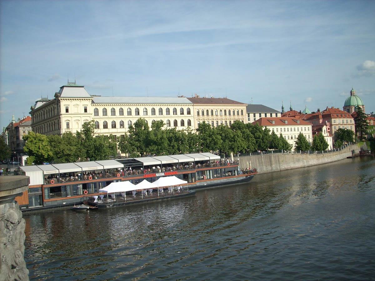 Слапское водохранилище на Влтаве, Прага, Чехия