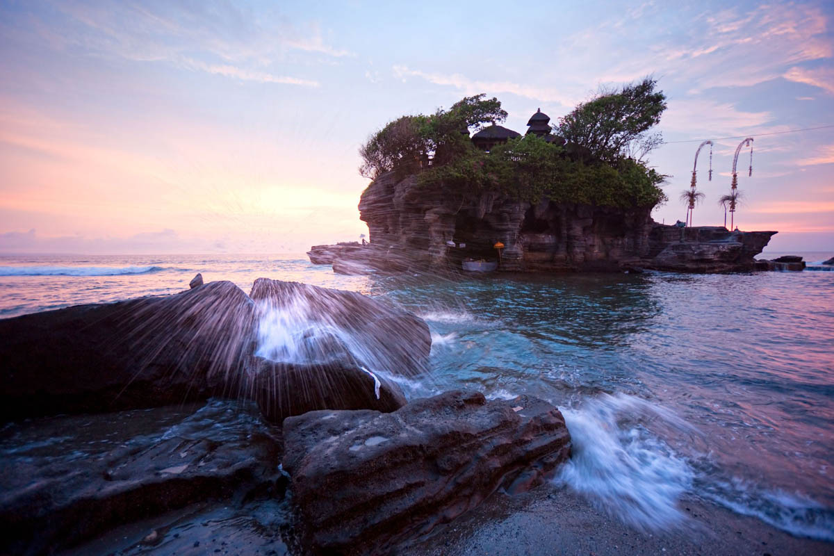 Tanah Lot Temple in Bali, Indonesia