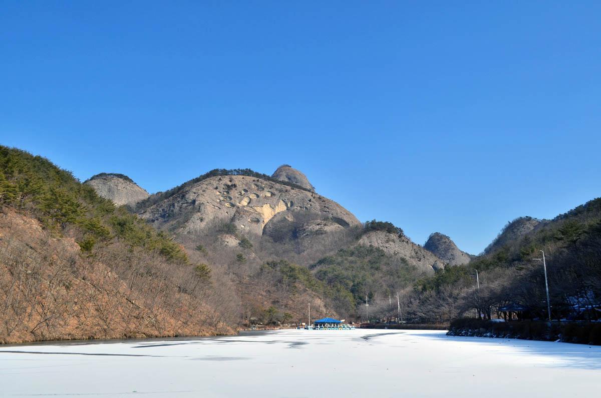 гора Майсан в Южной Корее