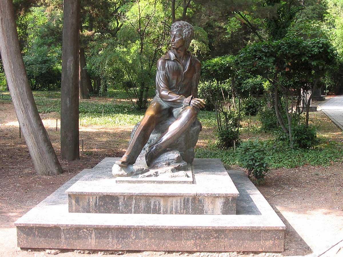 памятник Пушкину, Гурзуфский парк, Крым