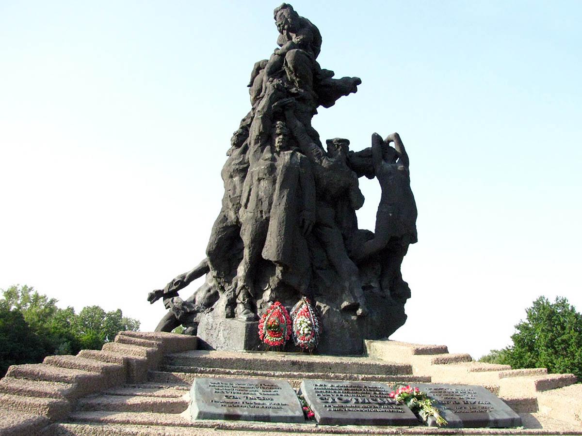 памятник расстрелянным в Бабьем Яру, Киев, Украина