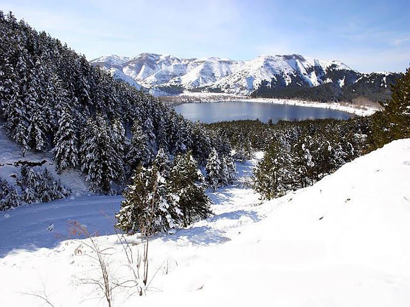 природный парк Гельджук зимой