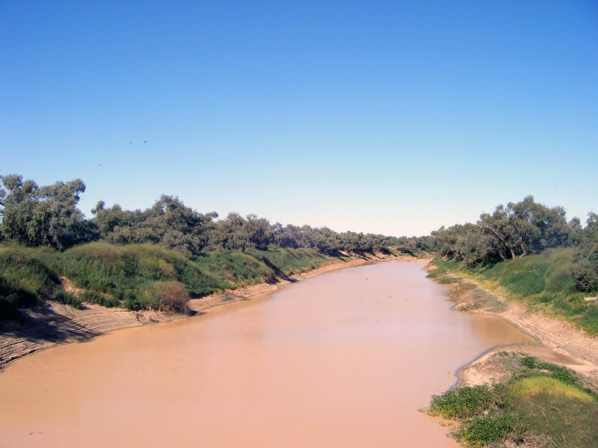 река Дайамантина в Австралии