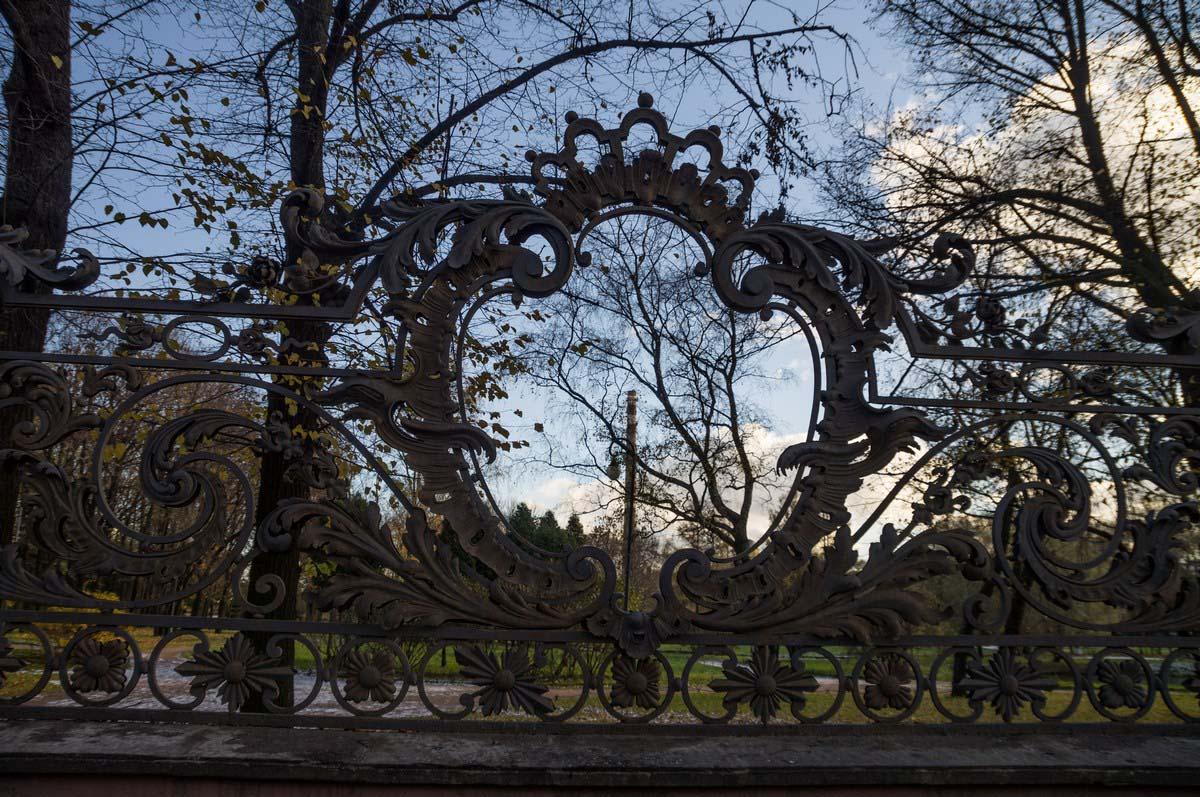 резная ограда в парке имени 9 января, Санкт-Петербург