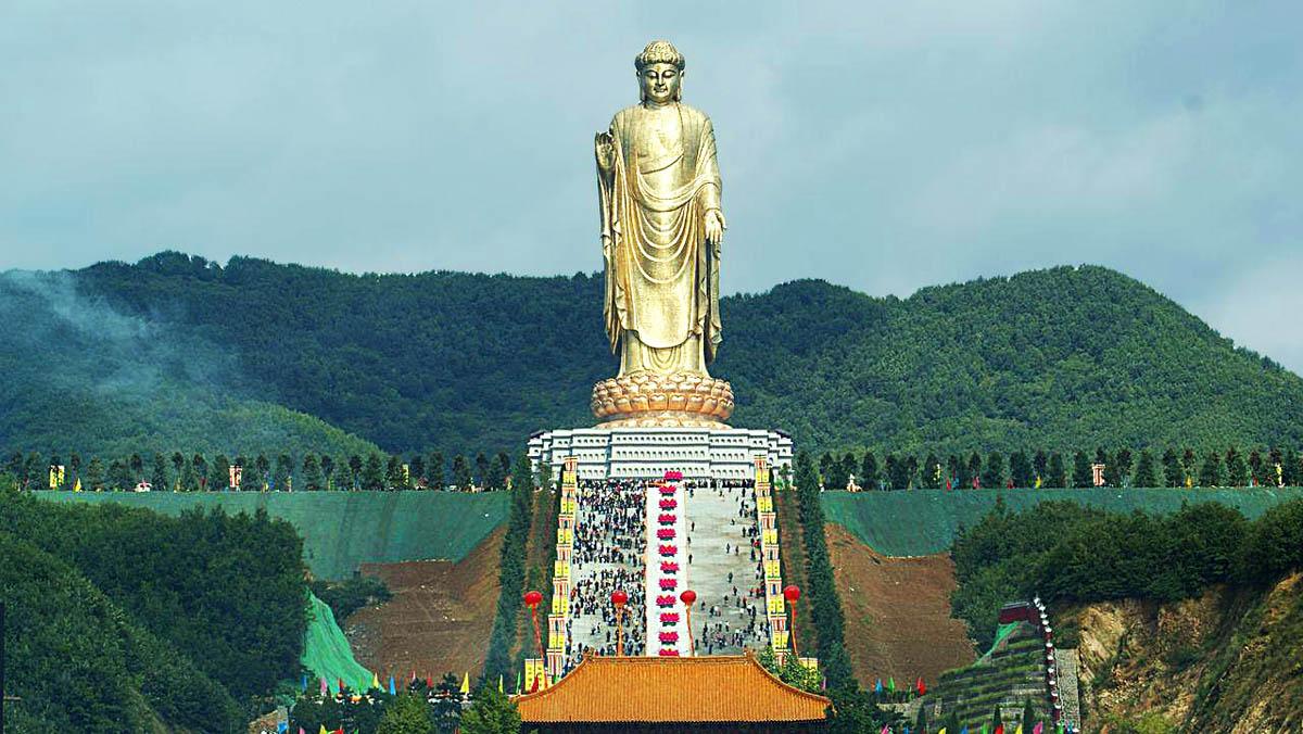 самая высокая статуя Будды, Лушань, Китай