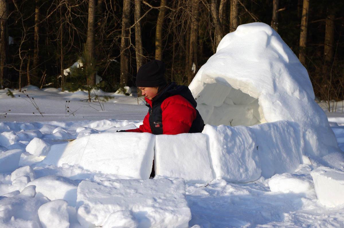 в лыжном походе