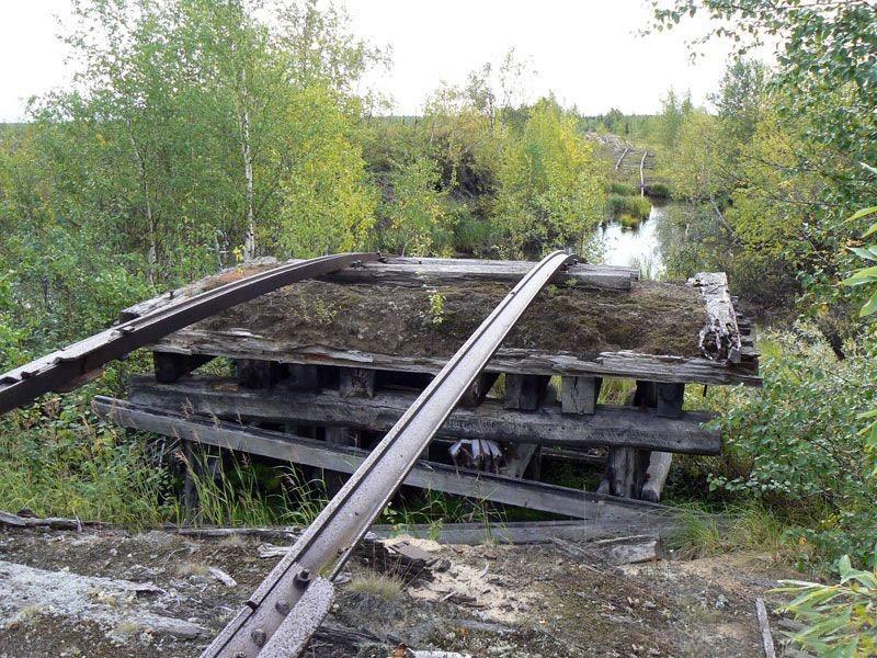 заброшенная железная дорога Чум–Салехард–Игарка