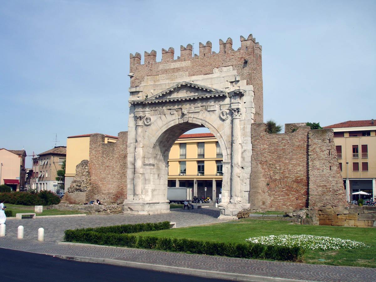 Arco d`Augusto, Rimini, Ilaly