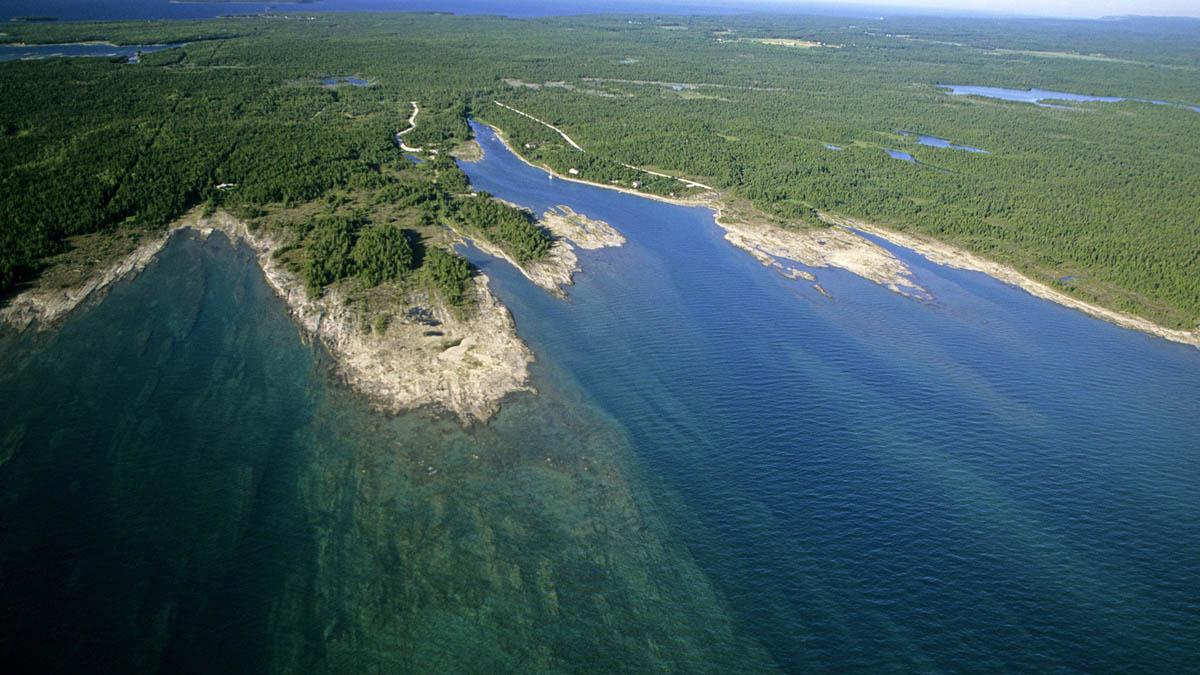 Baptist harbour, lake Huron, Ontario, Canada