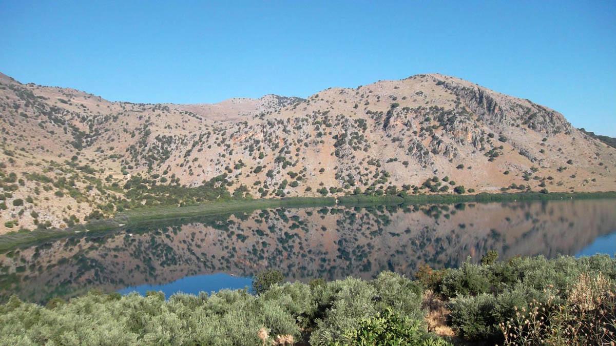 Kournas lake, Greece