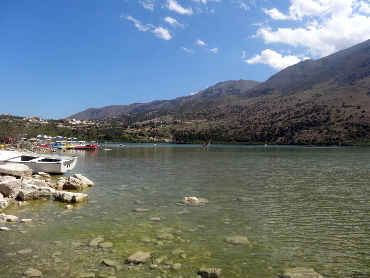 Lake Kournas, Crete, Grece
