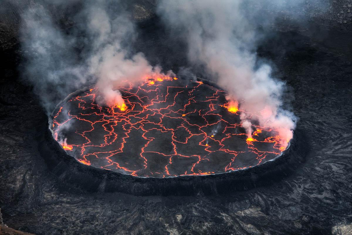 Nyiragongo volcano in Congo