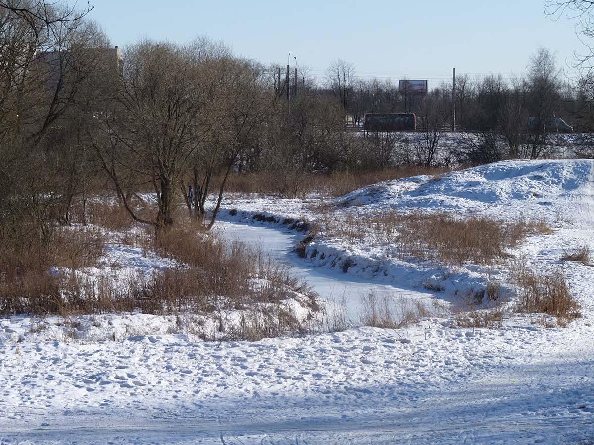 Полежаевский парк зимой