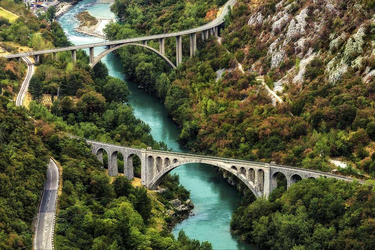 Solkan Bridge in Slovenia