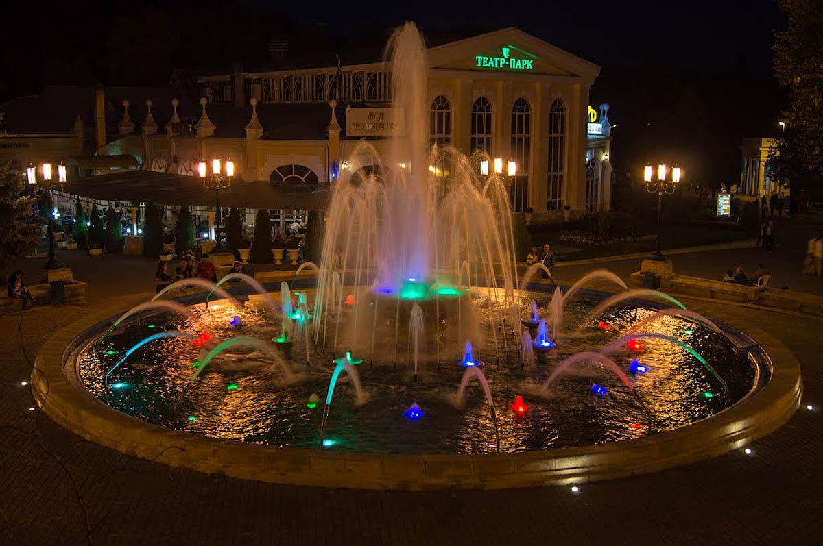 фонтан в Курортном парке Ессентуков