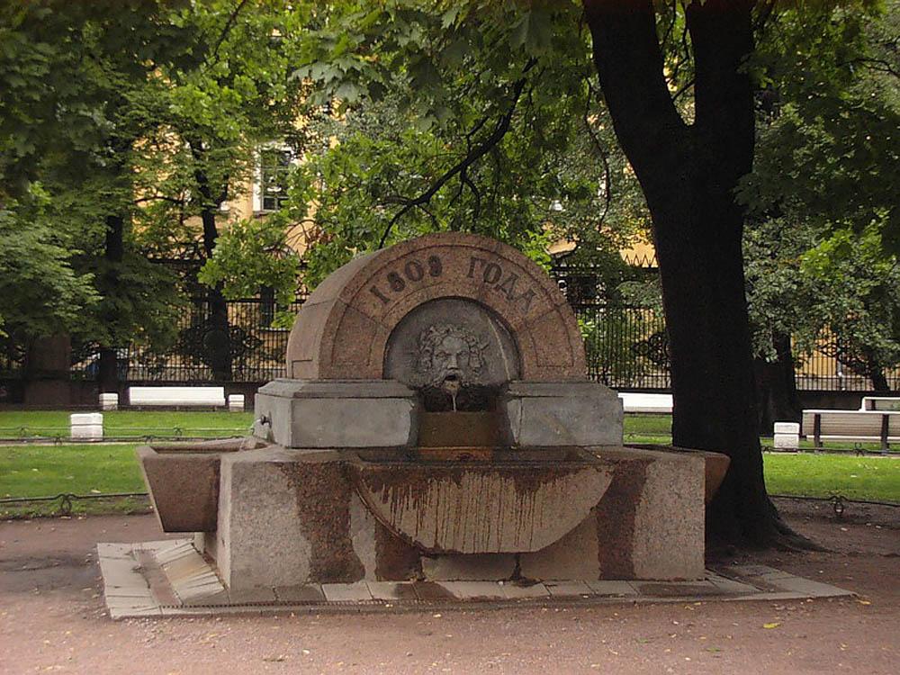 фонтан в Воронихинском сквере, Санкт-Петербург